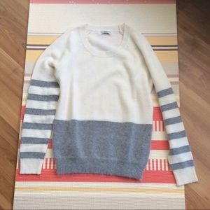 Madewell Sweater with Stripes on the Sleeves